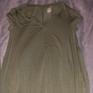 Army Green Swing Dress